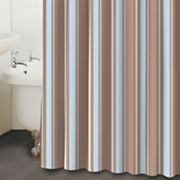 Famous Home Fashions Vincent Striped Fabric Shower Curtain
