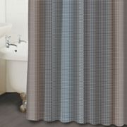 Famous Home Fashions Ibiza Geometric Fabric Shower Curtain