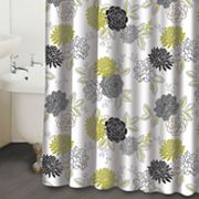 Waverly Cheri Floral Fabric Shower Curtain