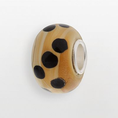 Individuality Beads Sterling Silver Leopard Glass Bead