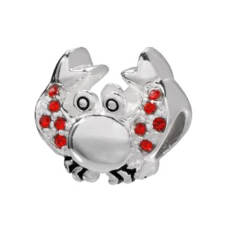 Individuality Beads Sterling Silver Crystal Crab Bead