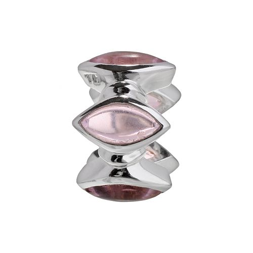 Individuality Beads Sterling Silver Glass Marquise Bead