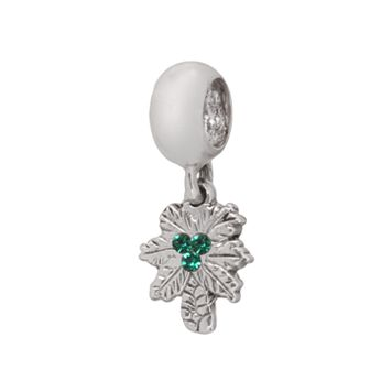 Individuality Beads Sterling Silver Crystal Palm Tree Charm