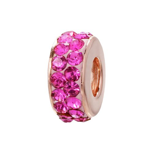 Individuality Beads 14k Rose Gold Over Silver Crystal Bead