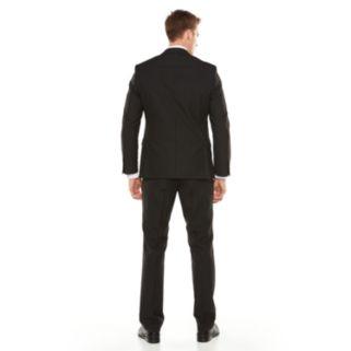 Men's Savile Row Modern-Fit Striped Black Suit Jacket
