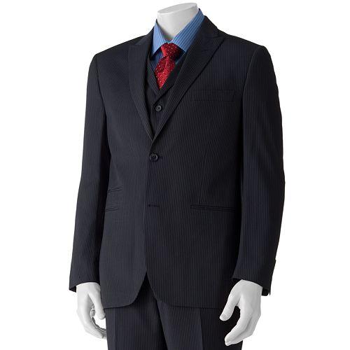 Savile Row Modern-Fit Striped Navy Suit Jacket - Men