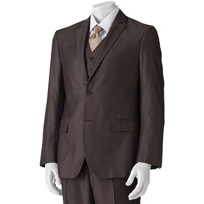 Savile Row Striped Nailhead Suit Jacket