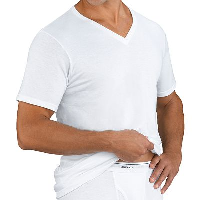 Jockey Classic 4-pk. V-Neck Tee - Big and Tall