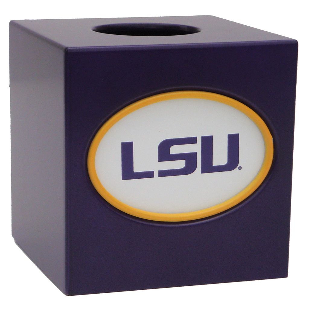 LSU Tigers Tissue Box Cover