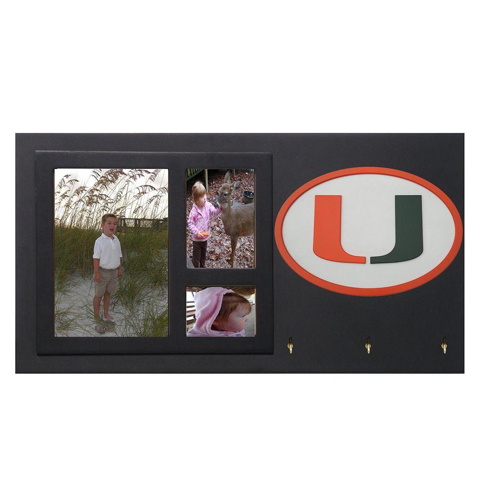 Miami Hurricanes Key Hook Collage Frame