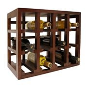 Epicureanist 12-Bottle Stackable Wooden Wine Rack