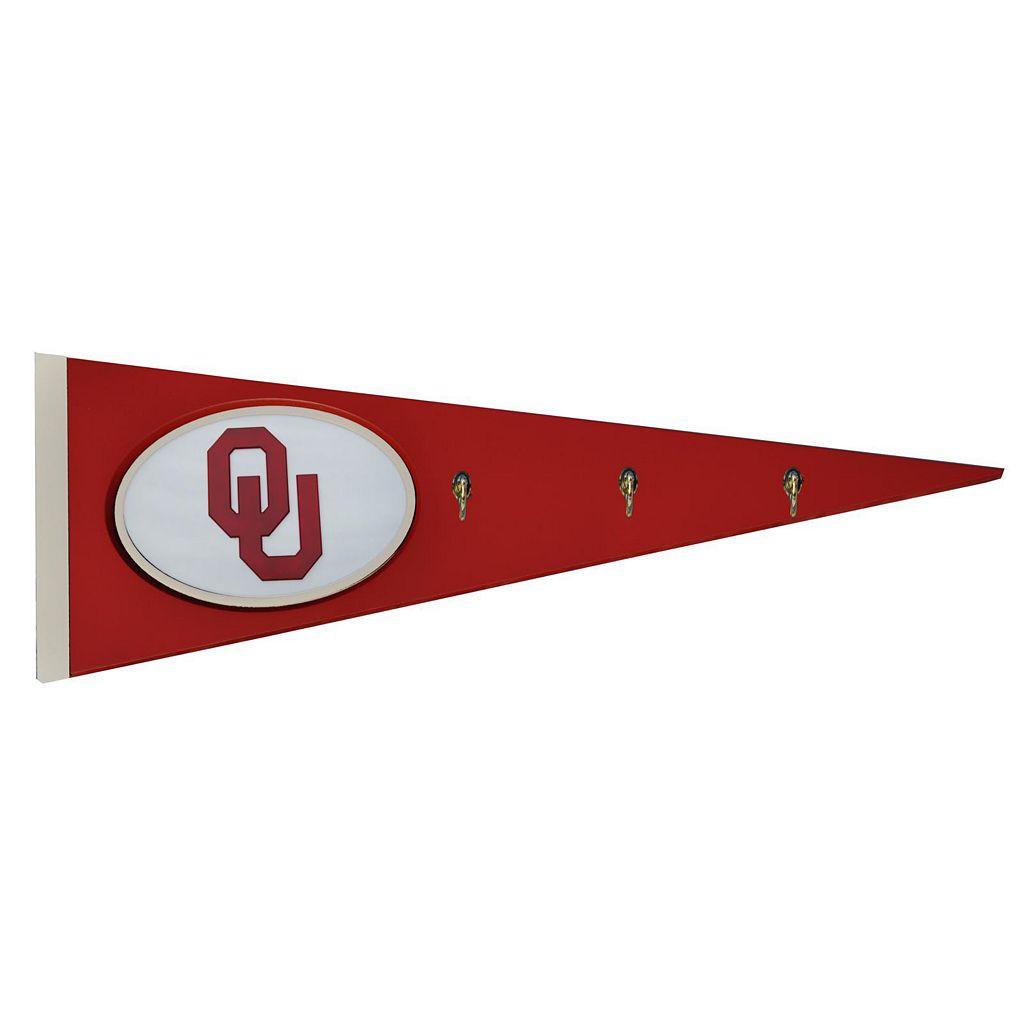 Oklahoma Sooners Pennant Coat Rack