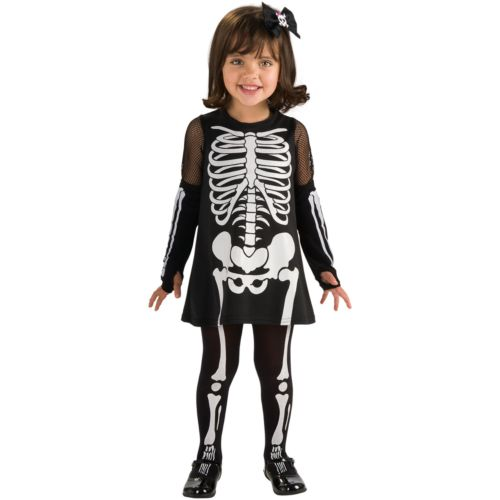 Skeleton Girl Costume - Toddler