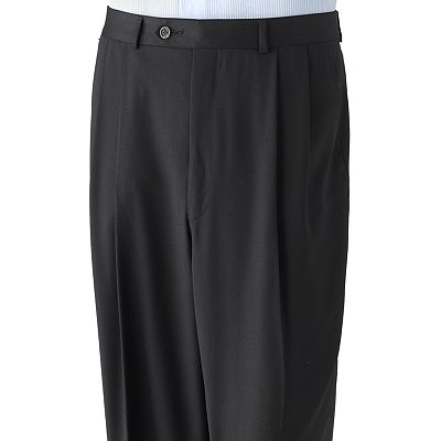 Chaps Wool Pleated Dress Pants - Big and Tall