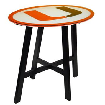 Miami Hurricanes Wooden Pub Table