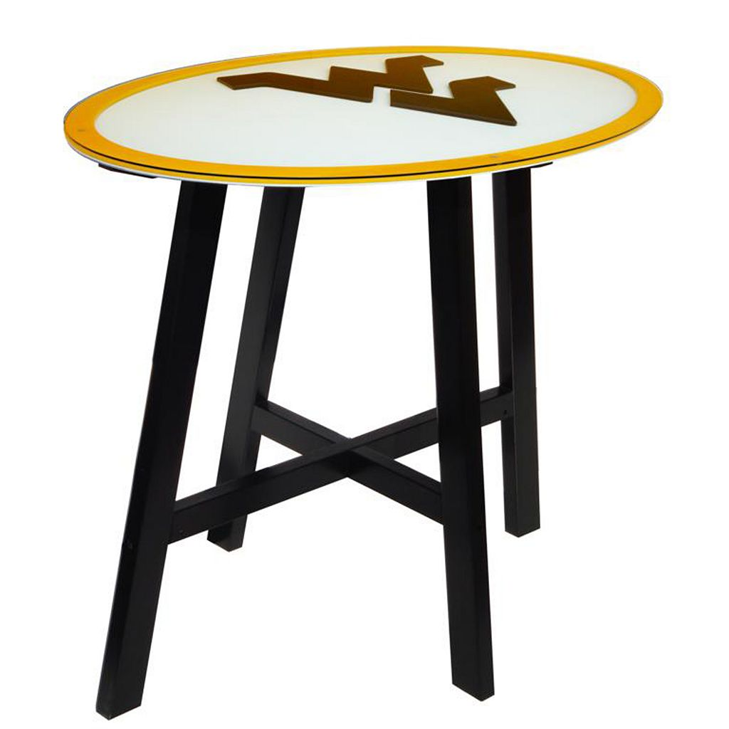 West Virginia Mountaineers Wooden Pub Table