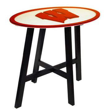 Wisconsin Badgers Wooden Pub Table