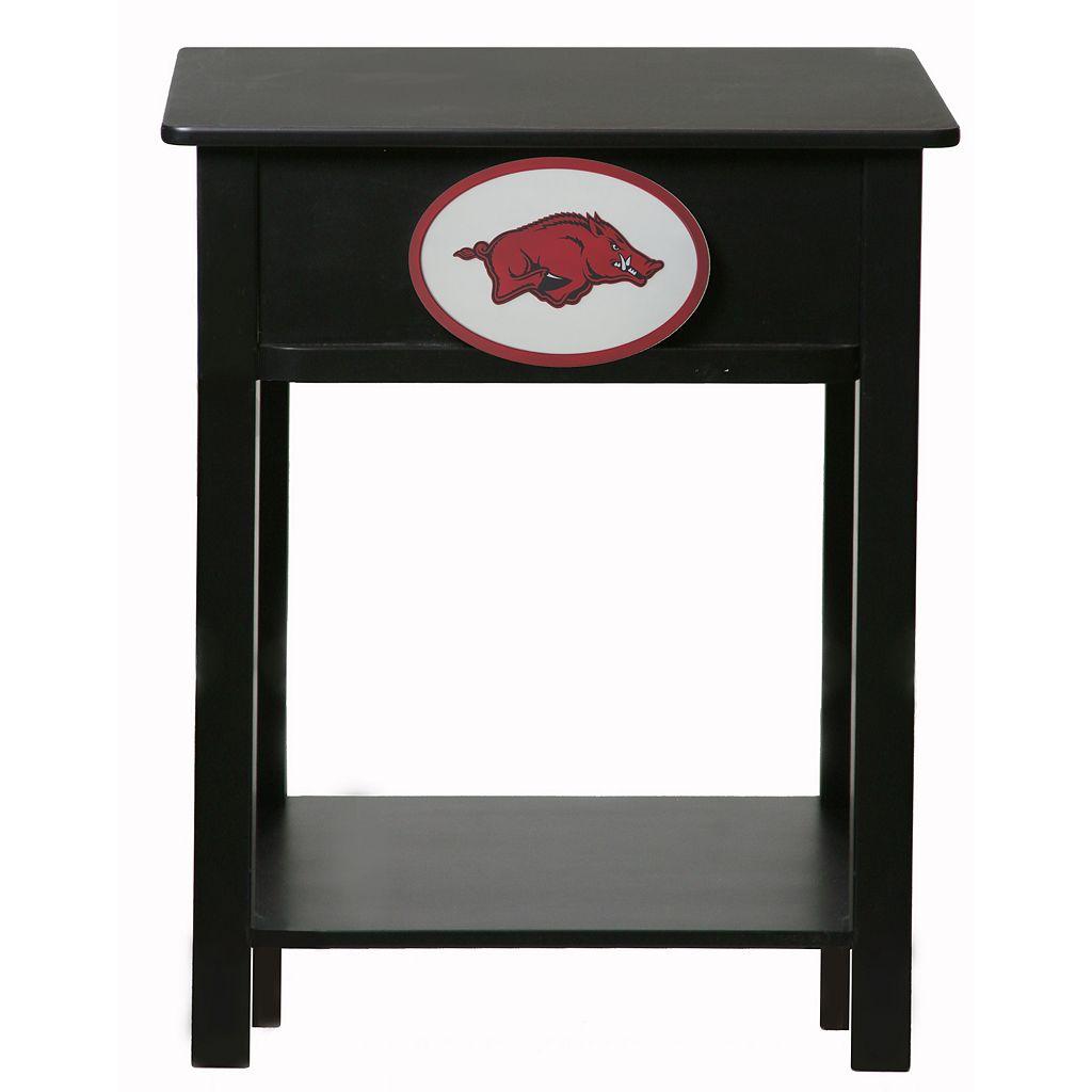 Arkansas Razorbacks Birch Side Table