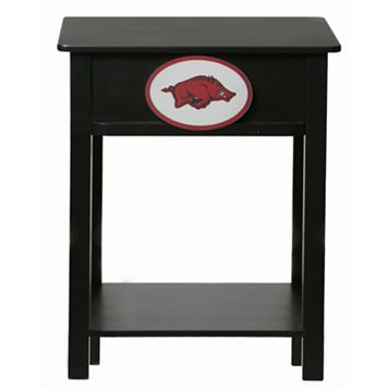 Arkansas Razorbacks Birch Side Table