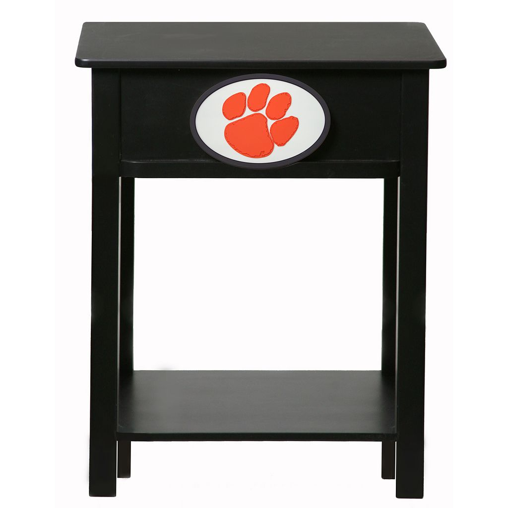 Clemson Tigers Birch Side Table