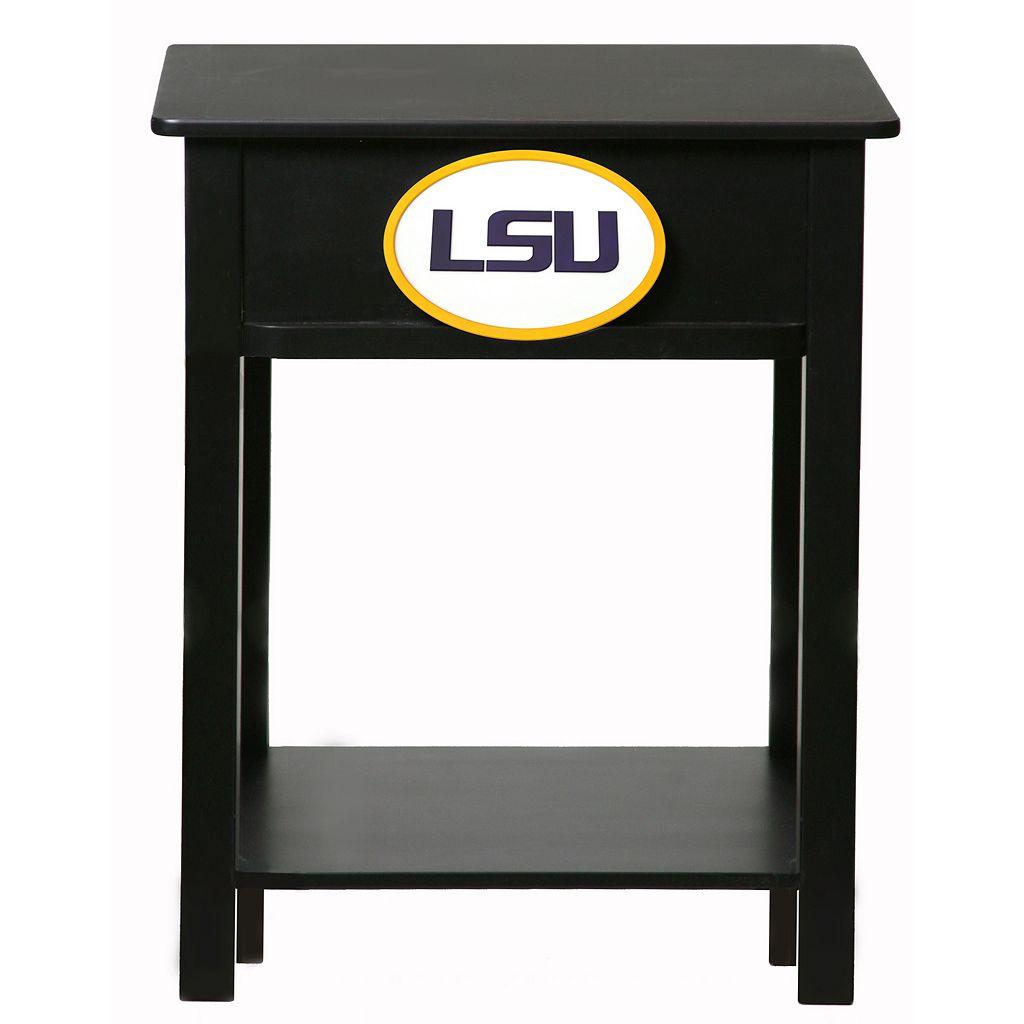 LSU Tigers Birch Side Table