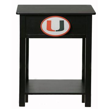 Miami Hurricanes Birch Side Table