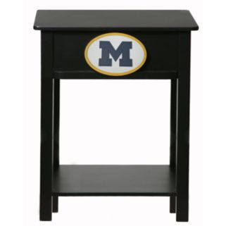 Michigan Wolverines Birch Side Table