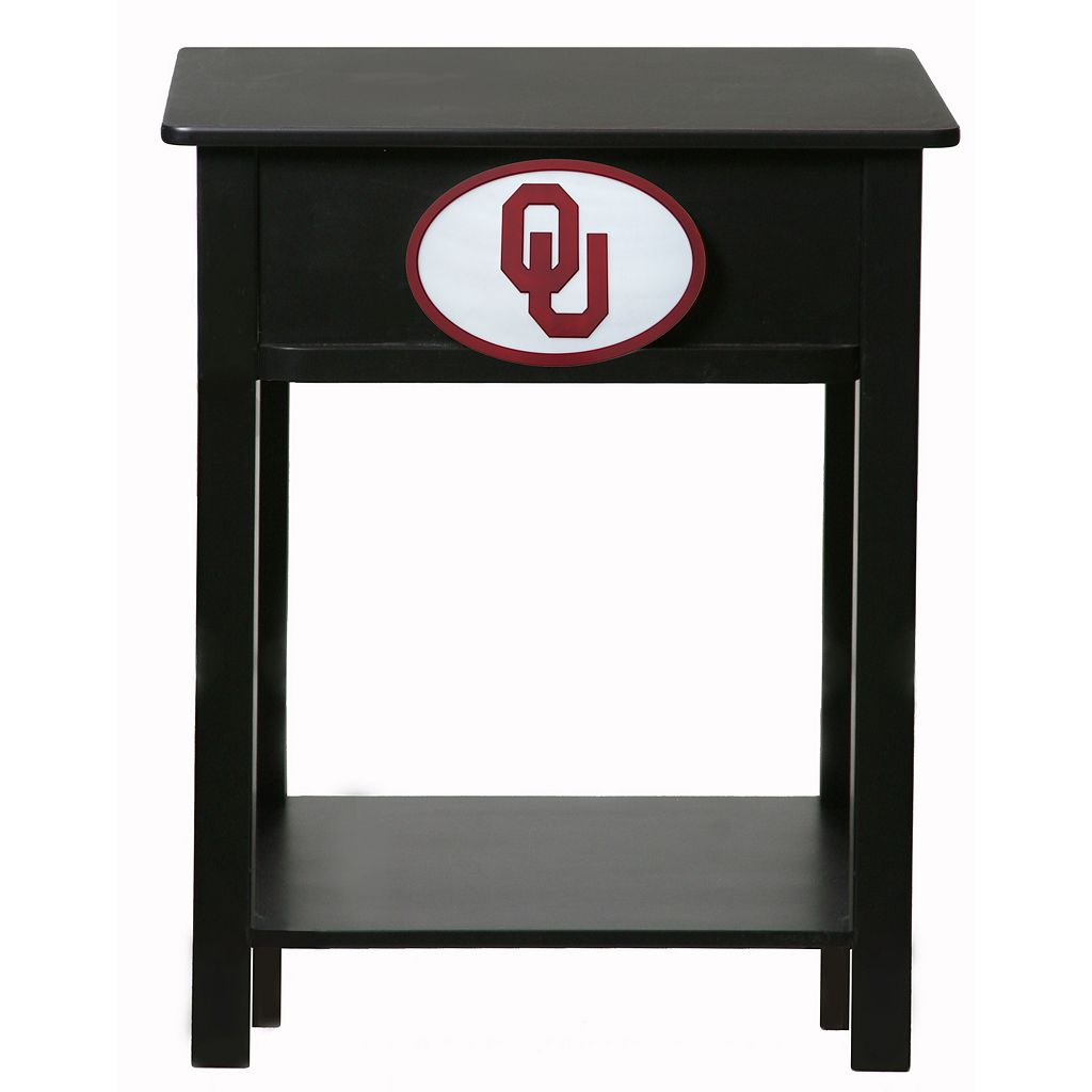 Oklahoma Sooners Birch Side Table