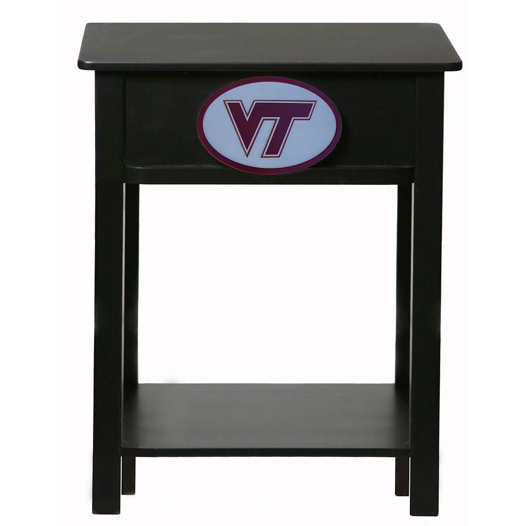 Virginia Tech Hokies Birch Side Table