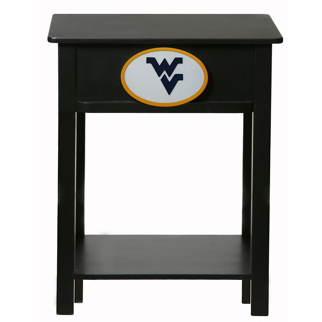 West Virginia Mountaineers Birch Side Table