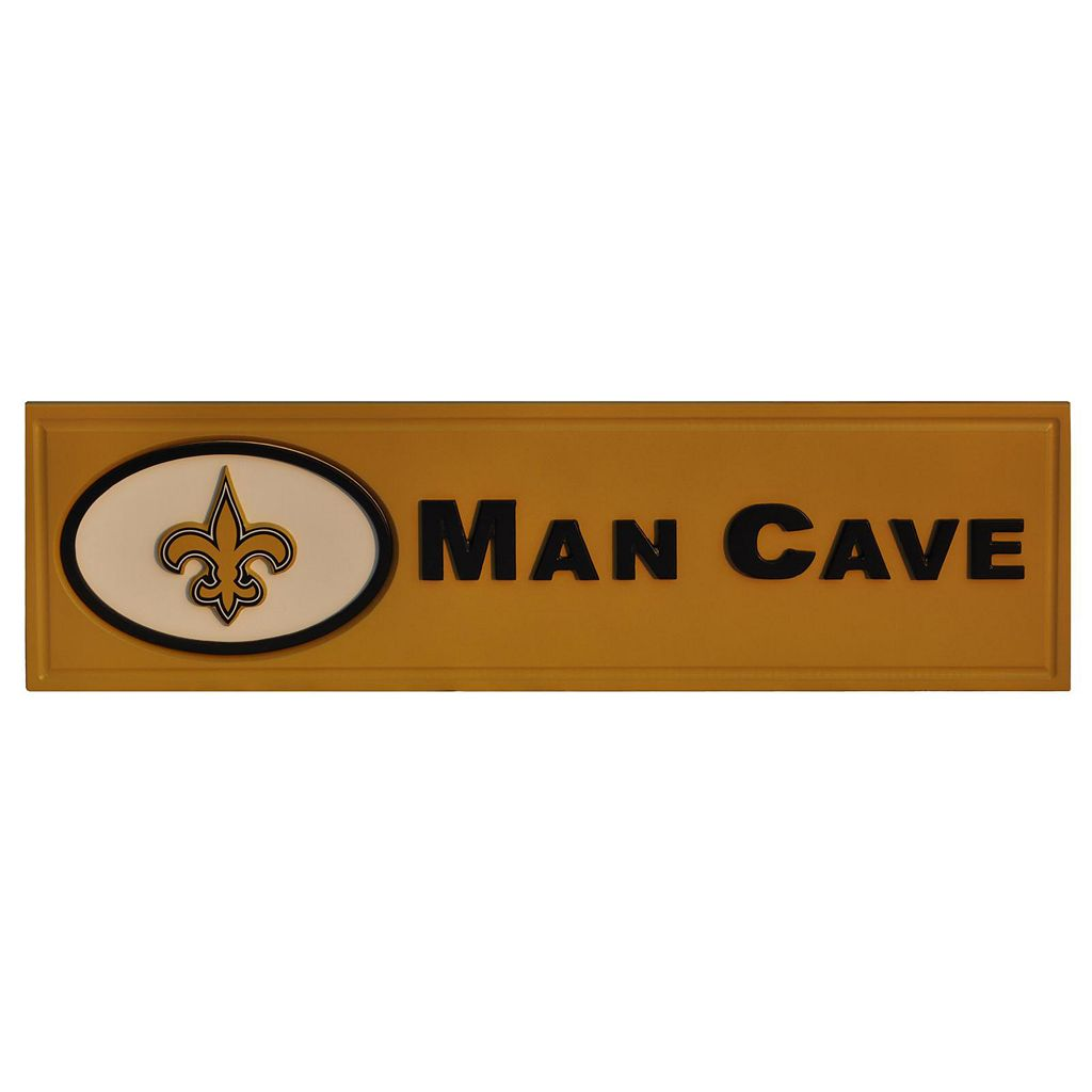 New Orleans Saints Wooden Man Cave Sign