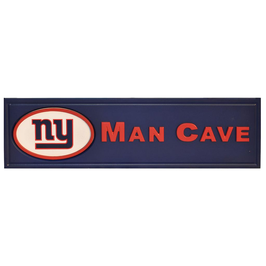 New York Giants Wooden Man Cave Sign