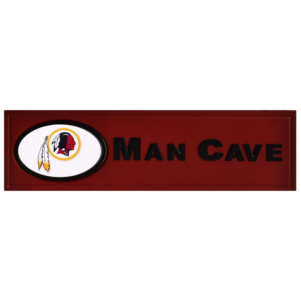 Washington Redskins Wooden Man Cave Sign