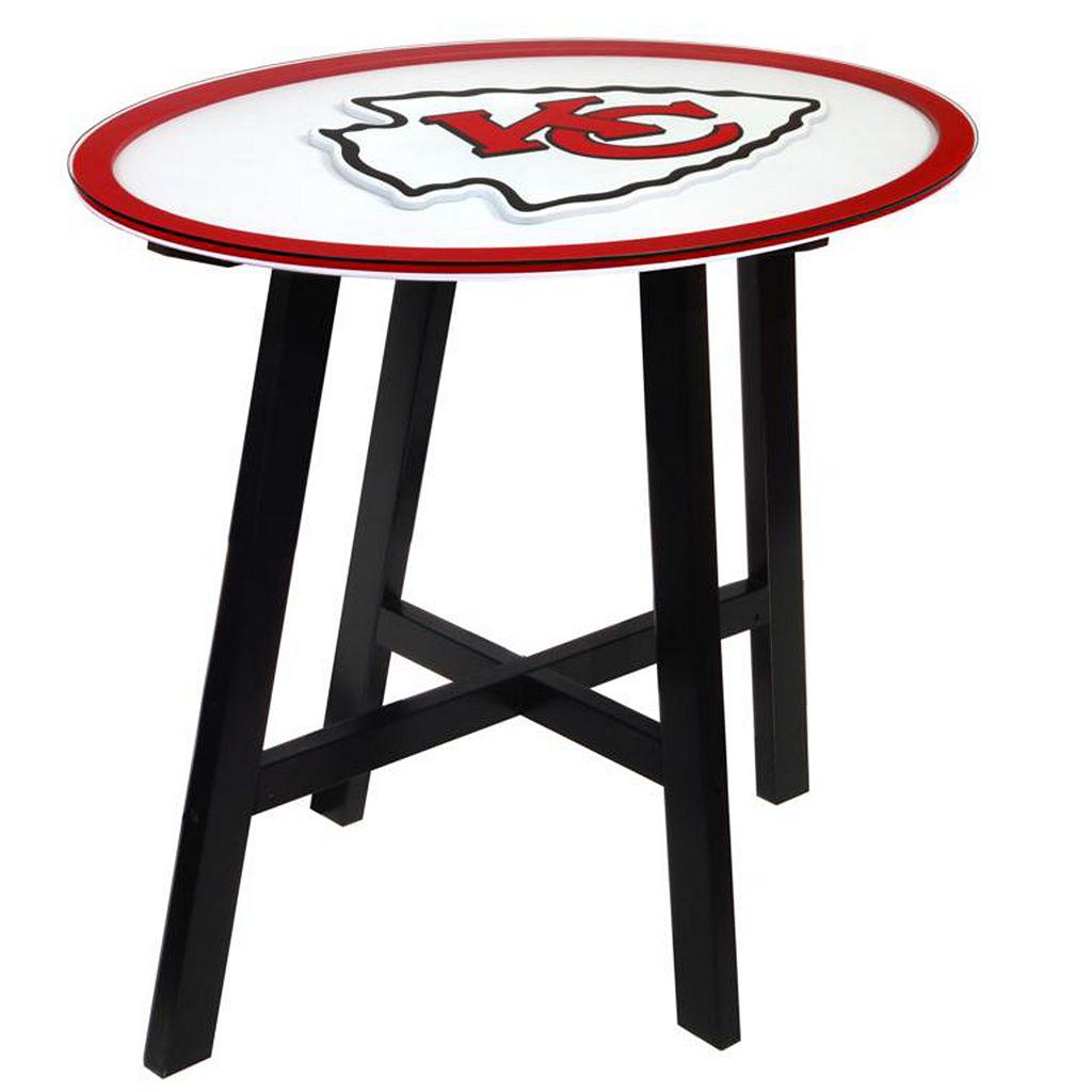 Kansas City Chiefs Wooden Pub Table