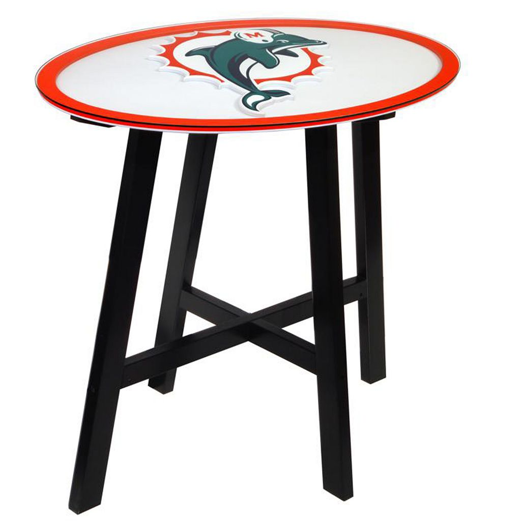 Miami Dolphins Wooden Pub Table