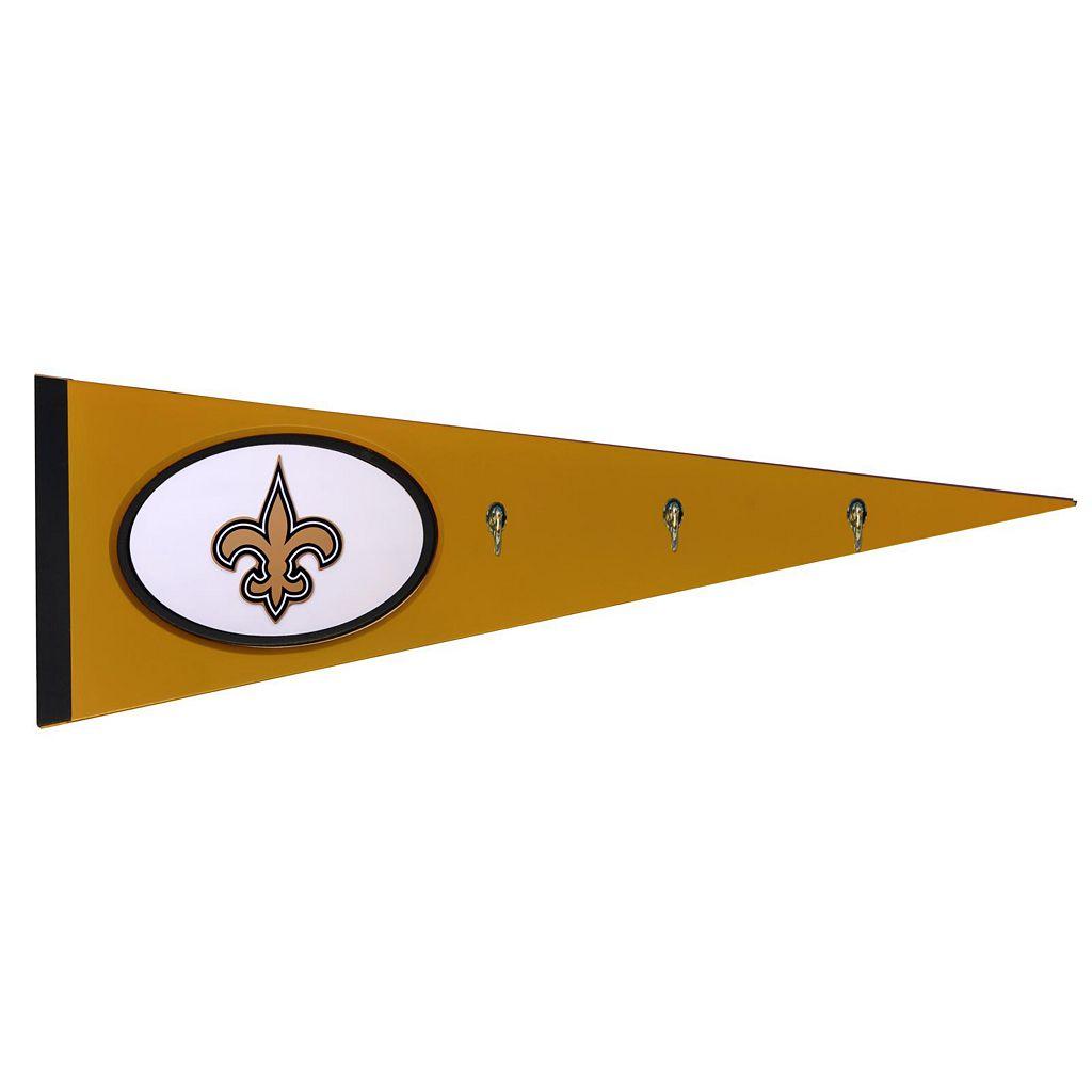 New Orleans Saints Pennant Coat Rack