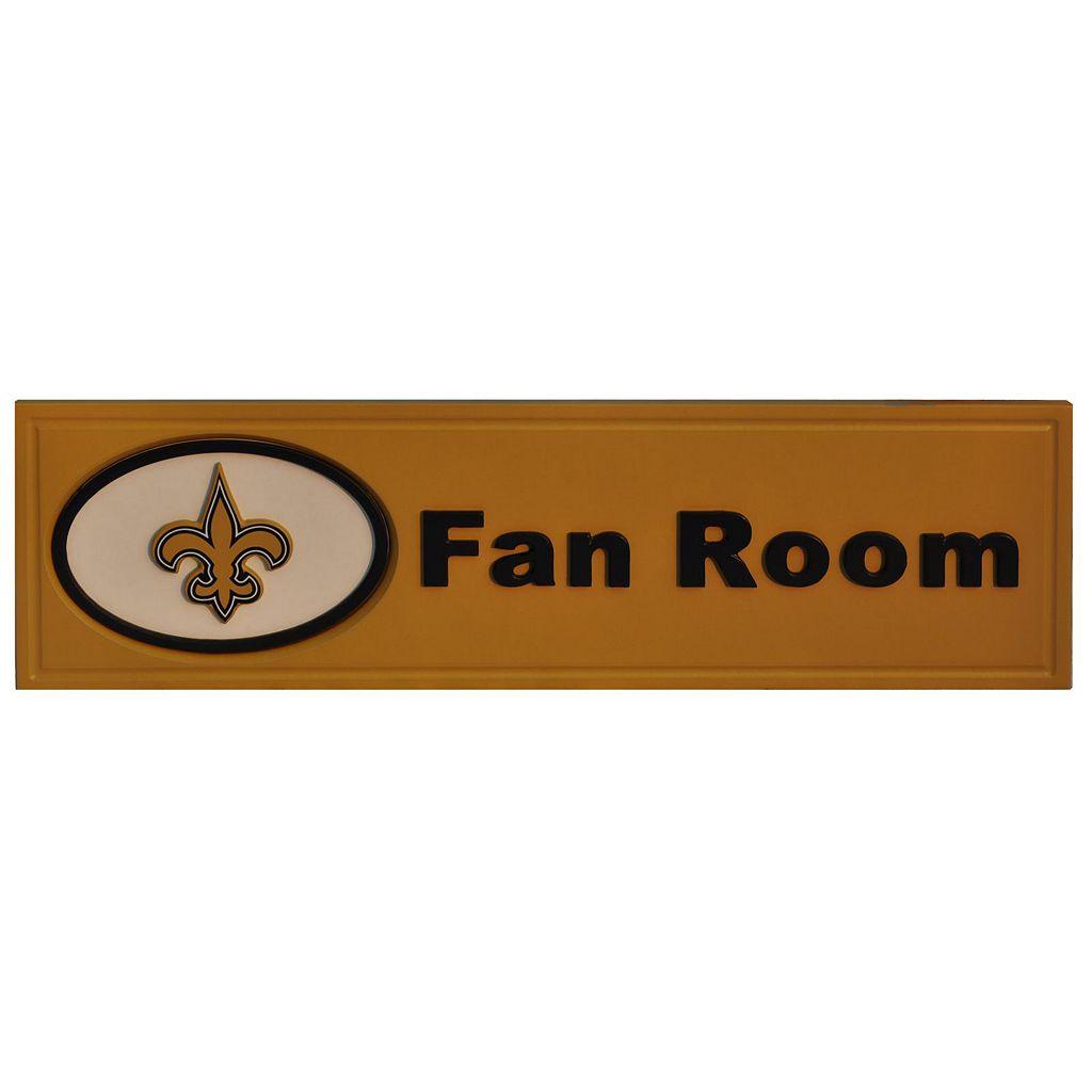 New Orleans Saints Fan Room Sign