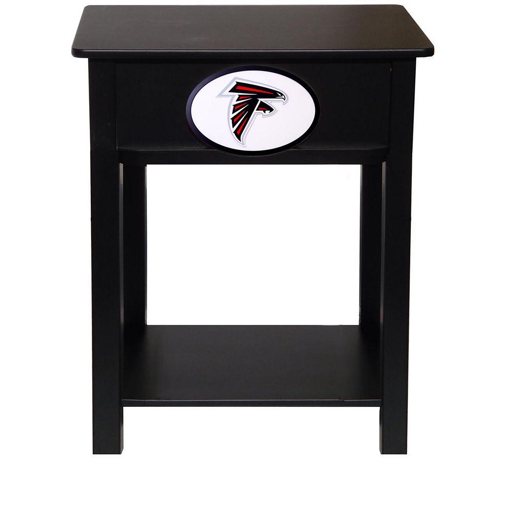 Atlanta Falcons Birch Side Table