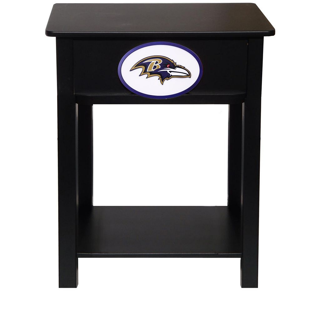 Baltimore Ravens Birch Side Table