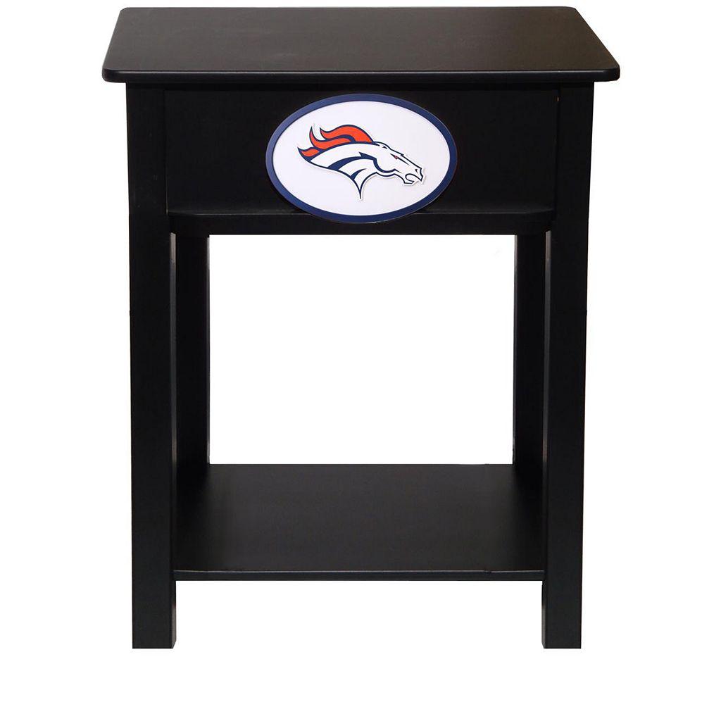 Denver Broncos Birch Side Table