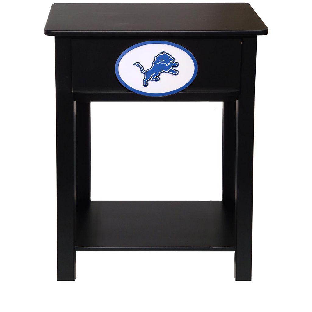 Detroit Lions Birch Side Table