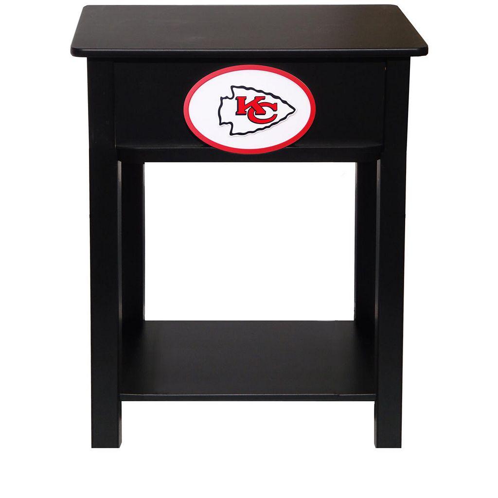 Kansas City Chiefs Birch Side Table