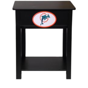 Miami Dolphins Birch Side Table