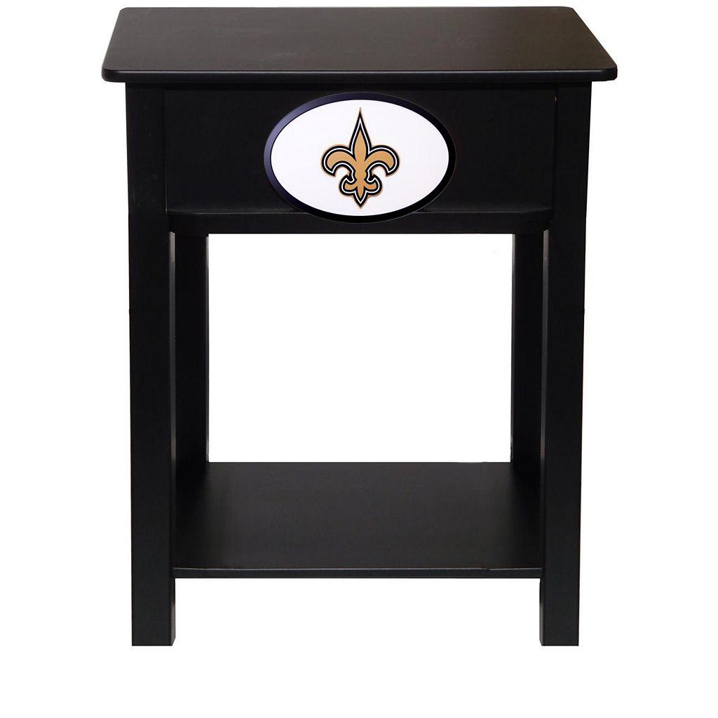 New Orleans Saints Birch Side Table