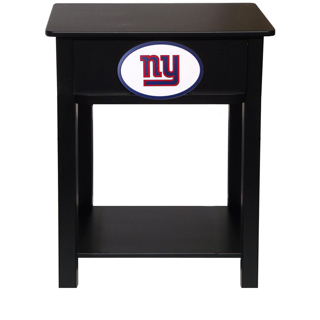 New York Giants Birch Side Table