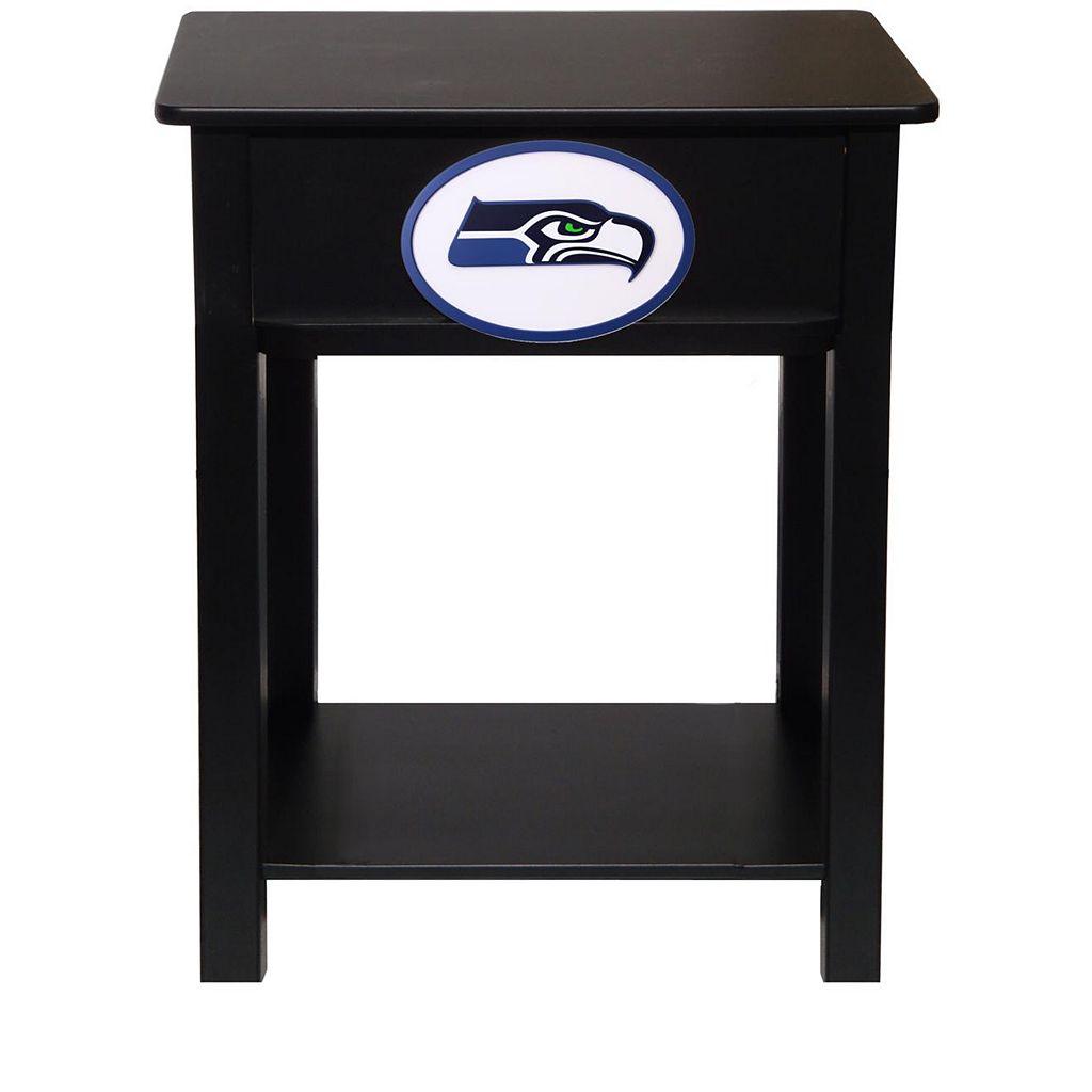 Seattle Seahawks Birch Side Table
