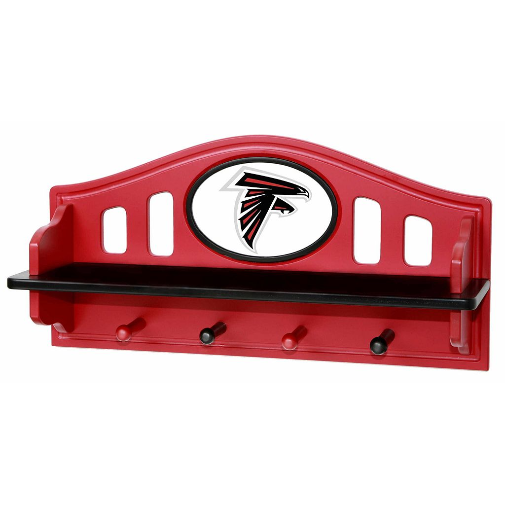 Atlanta Falcons Wooden Shelf