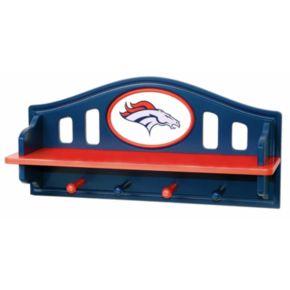 Denver Broncos Wooden Shelf