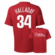 Majestic Philadelphia Phillies Roy Halladay Tee - Big and Tall
