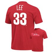 Majestic Philadelphia Phillies Cliff Lee Tee - Big and Tall